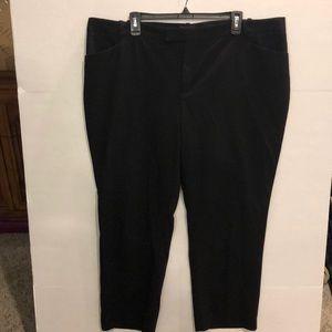Roz & Ali Plus Size Black Dress Ankle Pants